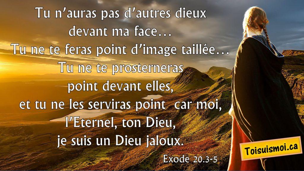 Exode 20.3-5