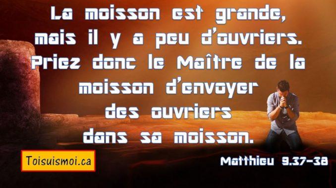Matthieu 9.37-38
