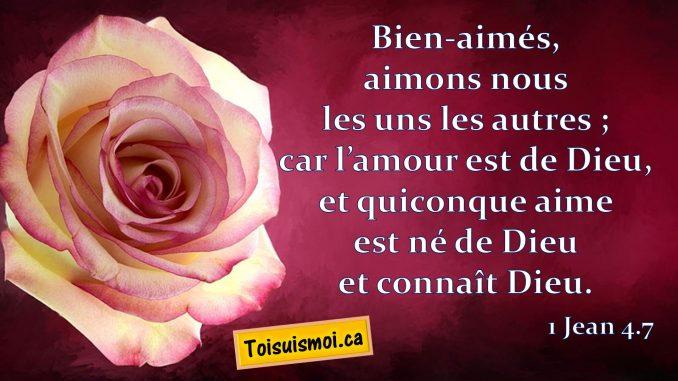 1 Jean 4.7