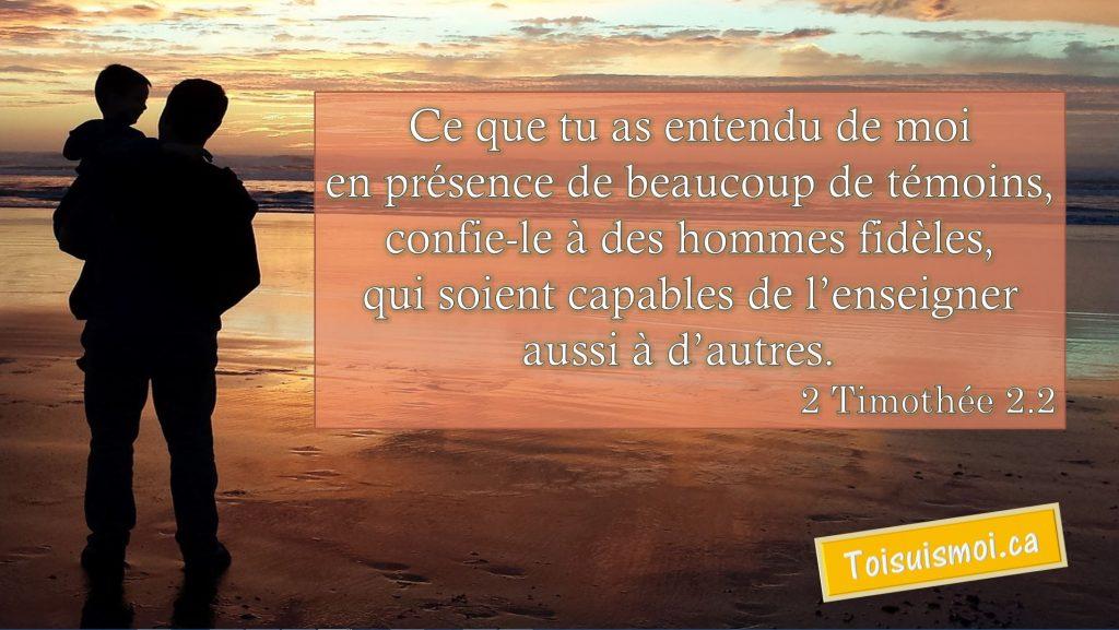 2 Timothée 2.2