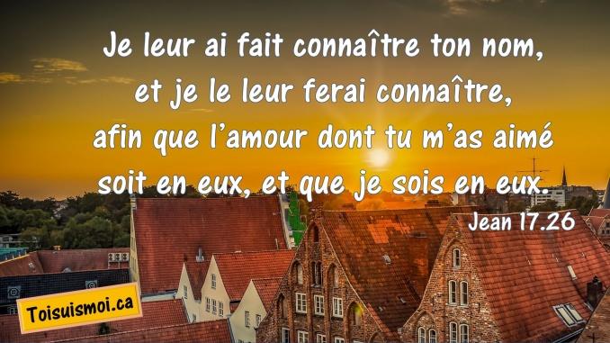 Jean 17.26