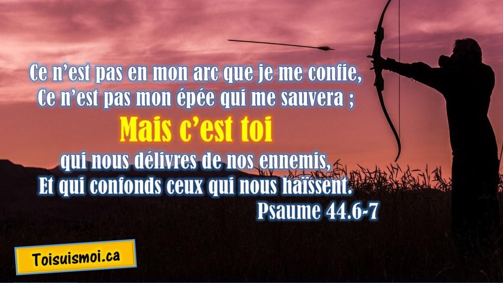 Psaume 44.6-7