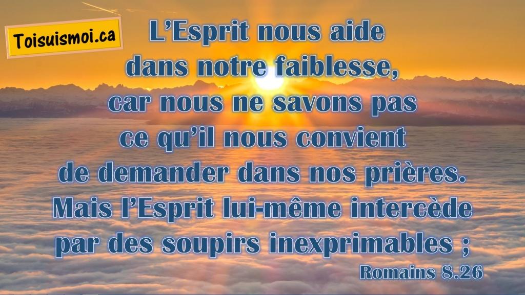 Romains 8.26